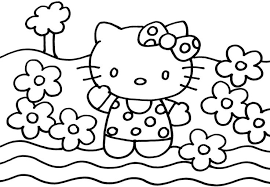 Printable Coloring Sheets Cartoon Hello Kitty Boys Girls Drawing