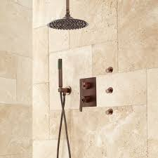 trimble rainfall shower system with sprays bathroom