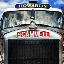 100 Truck License Front View Of A Restored Scammell British Truck Download