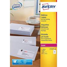 Avery L7164100 Self Adhesive Address Labels 12 Labels Per A4