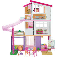 New Large Wooden Kids Doll House Barbie Kit Girls Play Dollhouse
