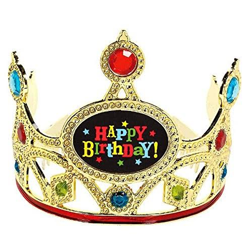 Amscan Birthday Brights Crown - Metallic Gold
