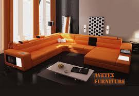 Poundex Bobkona Atlantic Sectional Sofa by Orange Couch Rexona Orange Leather Sofa Sectionals L I V I N