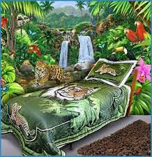 Tiger Wildlife Twin Bedding Set Rainforest Bedrooms Jungle Themed Ideas