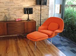 womb chair ottoman orange cashmere wool saarinen womb chair womb