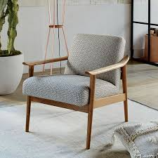 mid century show wood upholstered chair west elm home