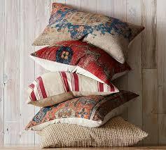 Red Decorative Lumbar Pillows by Navin Print Lumbar Pillow Cover Pottery Barn