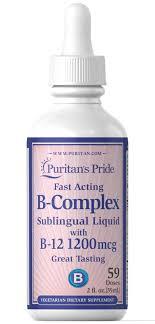 Liquid B Complex Sublingual With Vitamin B-12 2 Oz ...