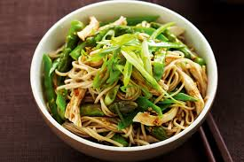 Japanese Pumpkin Salad Recipe by Japanese Poached Chicken And Soba Noodle Salad