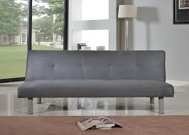 Balkarp Sofa Bed Black by Faux Suede 3 Seater Quality Sofa Bed Click Clac Fabric Sofabed