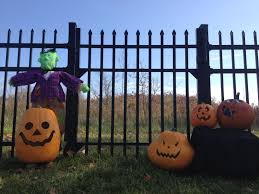 Halloween Cemetery Fence Finials by Residential Aluminum Fence Commercial Aluminum Fencing