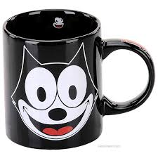 felix the cat felix the cat smiling black mug character coffee mugs
