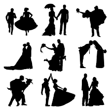 Free Bride And Groom Clipart Black White