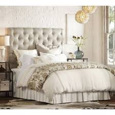 Pottery Barn Lorraine Tufted Bed & Headboard Polyvore