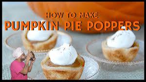 Bisquick Pumpkin Pie by How To Make Pumpkin Pie Poppers Youtube