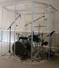 Sound Dampening Curtains Toronto by Drum Booth Fully Enclosed W A Door U0026 Sound Proof Room Common
