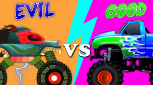 Good Vs Evil | Haunted House Monster Truck | Learn Street Vehicles ...