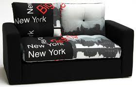 canapé york canape lit deplimousse tissu york noir