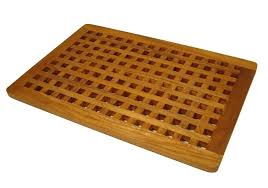 amazon com the original teak grate bath shower mat home kitchen