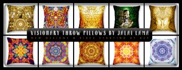 Oversized Throw Pillows For Couch by Oversized Visionary Throw Pillows By Jalai Lama Visionary Art