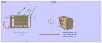 cabinet making design software rotate a cabinet sketchlist 3d