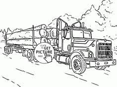 Log Truck Coloring Page For Kids Transportation Pages Printables Free