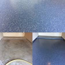 Sears Garage Floor Epoxy by Garage Floor Done With A Partial Flake Epoxy Floor Coating