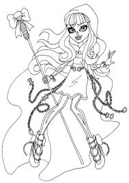 Coloring Pages Monster High Printable Free Party Invites Printing Games
