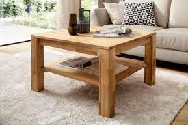 mca furniture couchtisch couchtisch massivholztisch mit ablage