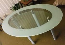 esszimmer glastisch oval möbel gebraucht kaufen ebay