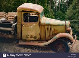 100 Flatbed Truck Body An Old Rusty 1935 Chevy 1 Ton Stake Body Flatbed Truck On A Hill