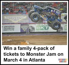 Win A Family 4-pack Of Tickets To Monster Jam On March 4 Atlanta Motorama To Reunite 12 Generations Of Bigfoot Mons Monster Jam Trucks 2014 Naturalbabydol In The Georgia Dome 100 Truck Show Samsonite Make Your Photo Gallery Family Reunion Onallcylinders Image Atlantapng Wiki Fandom Powered By Wikia Feb 21 2009 Usa Riders Get Some Air On Crusader Wning Freestlye S Summit Racingbigfoot And Trick Flowbigfoot 2016 Youtube Colors Birthday Party Food Ideas Together With San Diego Events Near Ocean Park Inn