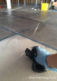 Preparing Concrete Subfloor For Tile by A Barn Makeover How I Stained My Concrete Floor With A 9 Gallon
