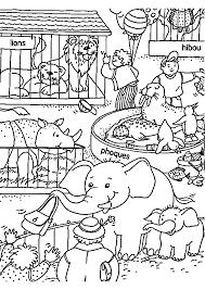 Dibujo De Hipopótamo En El Estanque Del Zoológico Para Colorear