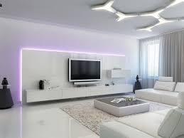indirekte beleuchtung led violettes licht hinter fernseher