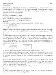 psychrometrics problems relative humidity humidity