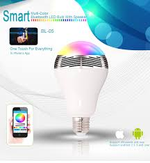 bl 05 bluetooth color changing led light bulb smart audio