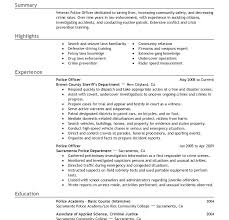 Entry Level Police Officer Resume Best Example Law Enforcement Promotion Template Templates