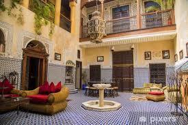 fototapete riad in marrakesch marokko
