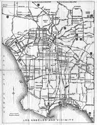 Detail Map For Los Angeles And Vicinity On The 1936 California Official Highway
