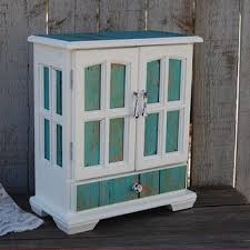 Jewelry Box Armoire Shabby Chic Rustic Beach Decoup