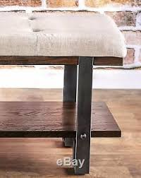 Hallway Bench With Storage Shoes Shelf Seating Rustic Living Room Industrial New