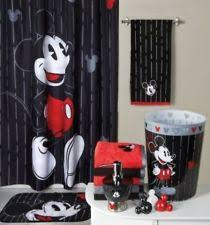 Disney Bathroom Accessories Kohls by Mickey Mouse Bathroom Set Shower Curtain Bath Rug Hooks 2 Towels