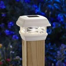 Home Depot Deck Lighting Solar by 95027 Wall Post Mount Solar Deck Light Round Solar Lights