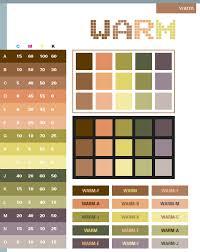 Warm Color Schemes Combinations Palettes For Print
