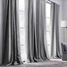 kaufen vorhang grau leinen 1 stück mit günstigste preis