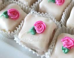 Petit Four Icing Rose Bakes