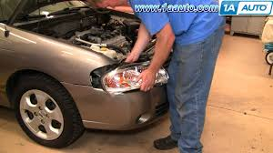 how to install replace headlights and bulbs nissan sentra 04 06