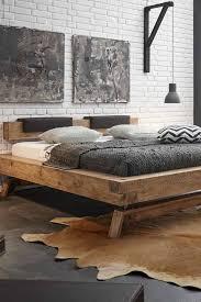 balkenbett villary aus wildeiche massivholz modernes