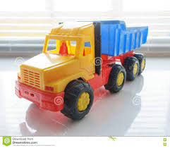 Toy Dump Truck Close Up Stock Photo. Image Of Cargo, Industry - 82146020